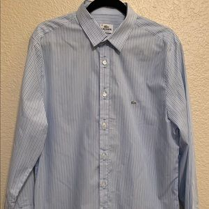 Lacoste Men's Button up Blue Casual Shirt